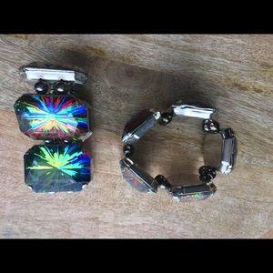 Set iridescent rainbow 🌈 psychedelic bracelets